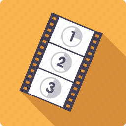 cinema, entertainment, film, movie, start, strip icon