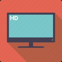 entertainment, flatscreen, high definition, movie, television, tv set icon