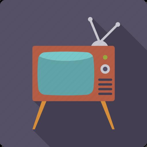 entertainment, movie, retro, screen, television, tv set icon