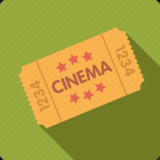 admission, cinema, entertainment, entrance, movie, ticket icon
