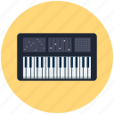 electric keyboard, instrument, keyboard, music icon