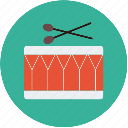 drums, instrument, marching drum icon