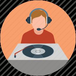 disc jockey, dj, mixer, turntable icon