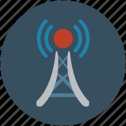 beacon, relay, signal, tower icon