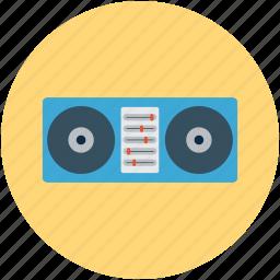 disc jockey, dj, mix station, turntables icon