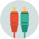 auxillary, cable, cord, input, output icon