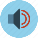 audio, sound, sound levels, speaker, volume icon