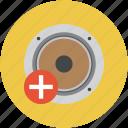 sound, volume up, louder, higher sound icon