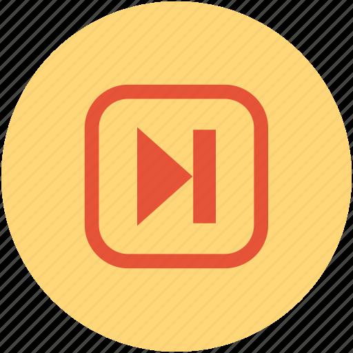 forward, skip, skip to end, video skip icon