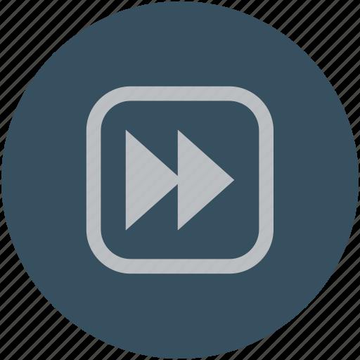 fast forward, forward button, skip, video icon