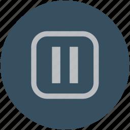 audio, pause, play pause, video icon