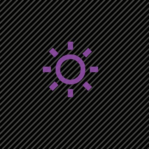brighteness, brightness, light, sun, sunny, weather icon
