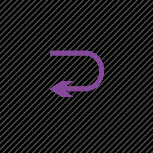 arrow, switch, turn, u icon