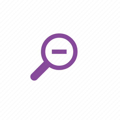 magnifying glass, out, view, zoom icon