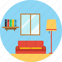 drawing, home, hotel, room, seat, apartment, furniture