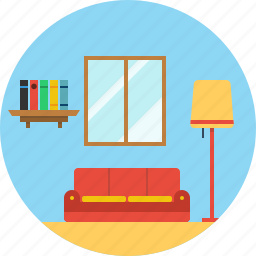 apartment, drawing, furniture, home, hotel, room, seat icon