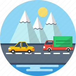 automobile, car, delivery, road, transport, truck, van icon