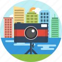building, camera, city, photo, photography icon
