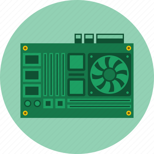 circuit, computer, cpu, hardware, mother board, technology icon