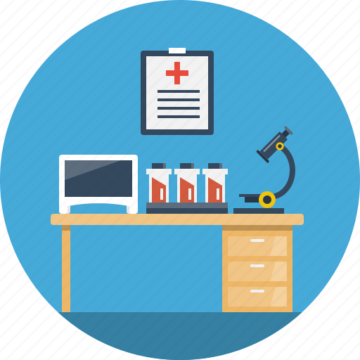 clinic, health, laboratory, medical, microscope, test, tube icon