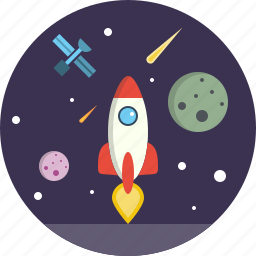 launch, lunch, space, spacecraft, spaceship, startup icon