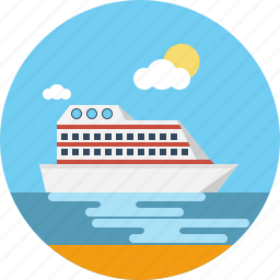 holiday, ship, shipping, tour, transport, travel, vacation icon