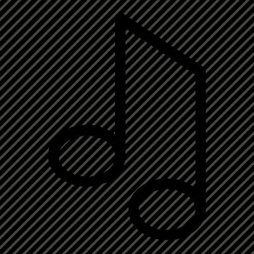 audio, listen, music, note, sound icon