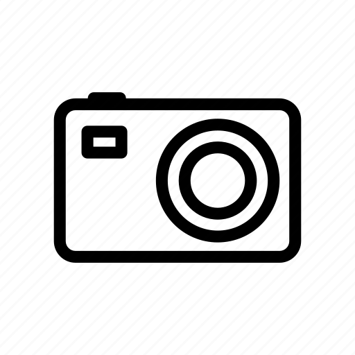 camera, device, line, outline, photo, photography icon