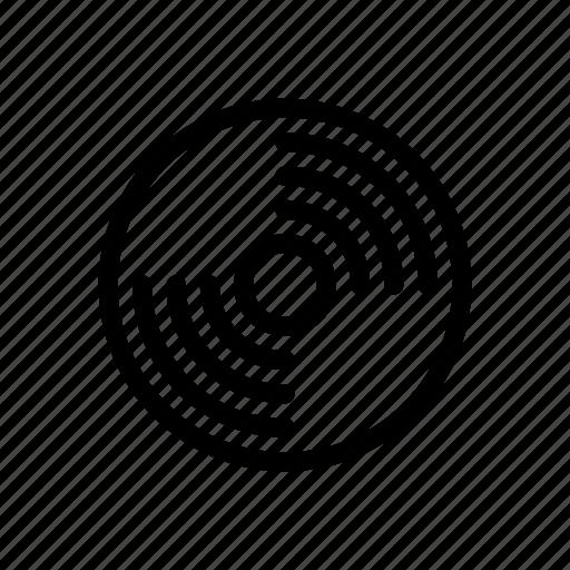 cassette, cd, disk, drive, line, outline, storage icon