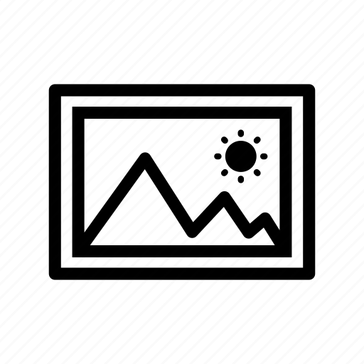 gallery, image, line, outline, photo, picture icon
