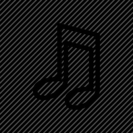 audio, line, music, outline, sound icon