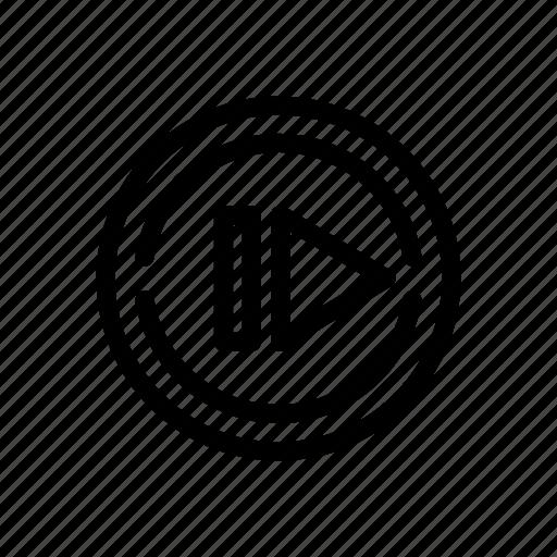 line, next, outline icon