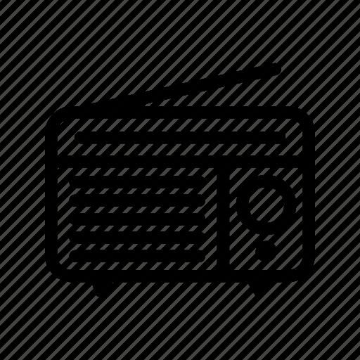 line, outline, radio icon