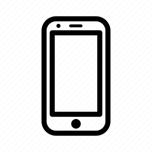 device, line, mobile phone, outline, phone, smartphone icon