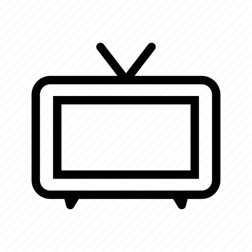 electronic, line, outline, television icon