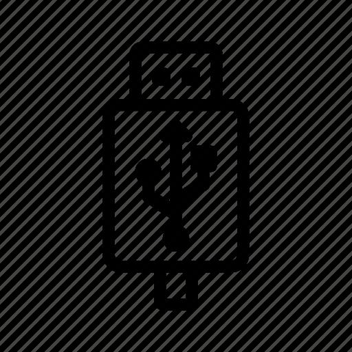 line, outline, usb icon