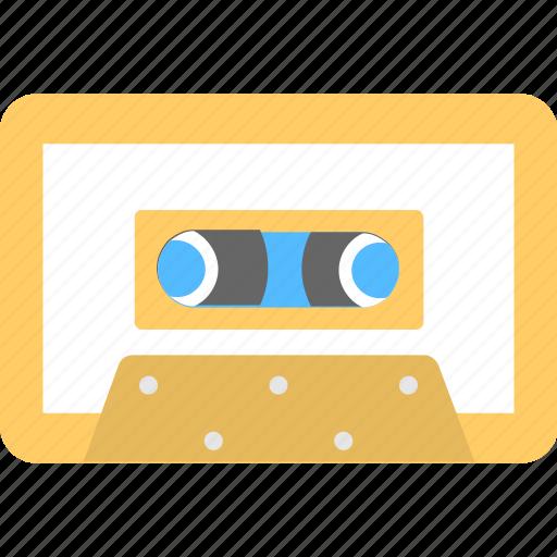 audio cassette, cassette, media, music, tape icon