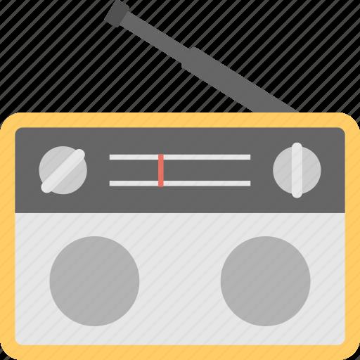 radio, radio antenna, radio set, technology, transmission icon