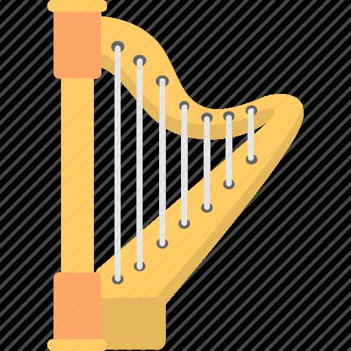 audio, harp, instrument, lyre, music icon