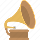 gramophone, instrument, media, music, record player icon