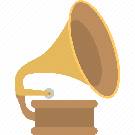 gramophone, instrument, media, music, record player icon
