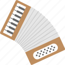 accordion, concertina, instrument, melody, music icon