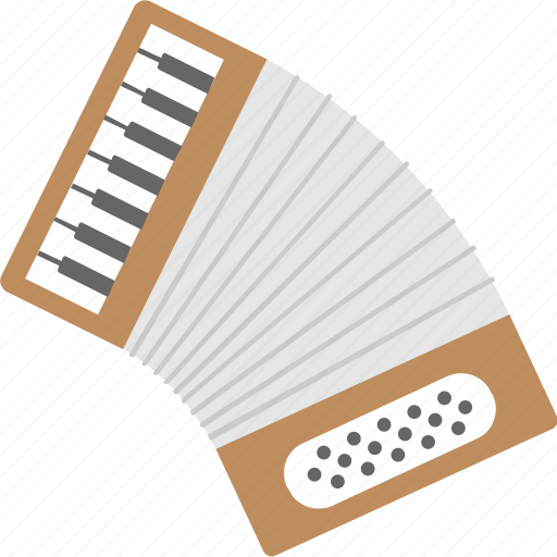 accordion, concertina, instrument, melody, music icon