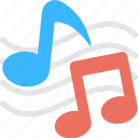 eighth note, lyrics, music, music notes, quaver icon