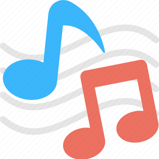 eighth note, lyrics, music, music notes, quaver icon