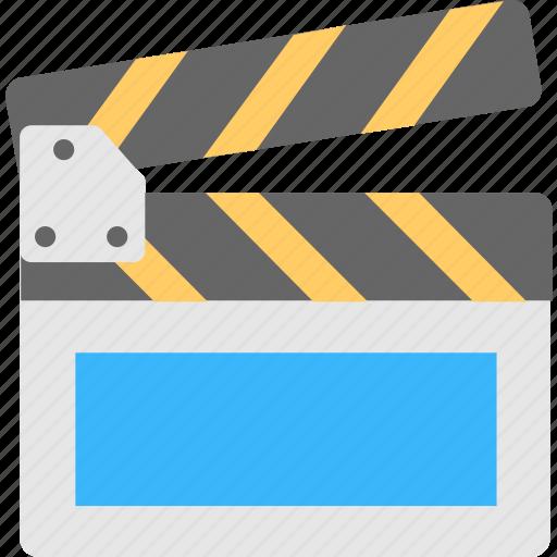cinema, clapboard, clapper, director, movie icon