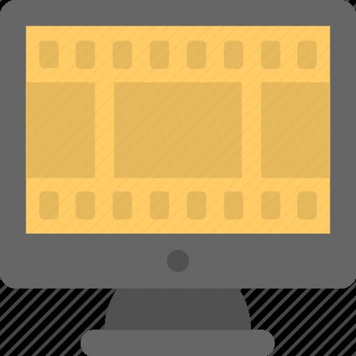 film, monitor, movie, reel, screen icon
