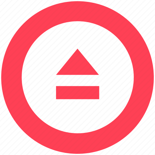 audio control, eject, eject button, media button, media control, multimedia icon