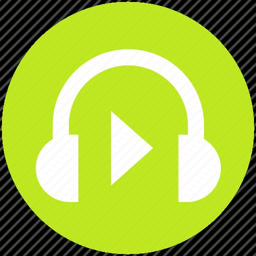 audio, earphone, headphone, headset, multimedia, music, sound icon