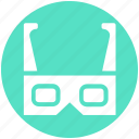 entertainment, gadget, glasses, movie glasses, multimedia, technology icon